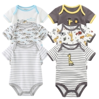 3pcs Baby Clothes 2020 Baby Rompers Cotton Infant short Sleeve Jumpsuits Boy Girl Summer Baby clothing set