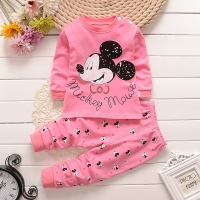 Cotton Baby Girls Clothes Winter Newborn Baby Clothing Set 2pcs Unisex Kids Clothes Set Spring Toddler Kids Clothes