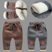 BibiCola boys pants new winter kids thicken pants children boy casual warm cashmere velvet trousers for baby boys leggings