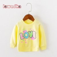 Lawadka Brand Love Pattern Long Sleeve Tops Autumn Clothing Baby Boy Girls Sweatshirts Baby T shirts for Babys Girls Clothes