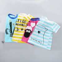 Baby Kids Tops Boys and Girls Short Sleeve T-shirt 9M-24M Cartoon Cotton  Tee