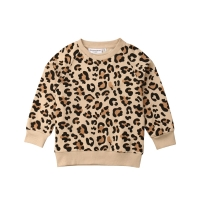US Toddler Kid Baby Girl Boy Bunny Leopard Print Top T-shirt Sweatshirts Clothes