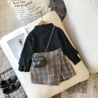 2018 Autumn olde baby girls Plaid Skirt Fashion Elastic Waist Children Shorts Clothing Kids Skirts For Girls bebes 2-7T