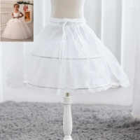 White Tulle Skirt Baby Girls Tutu Skirts Petticoats Kids Underskirt Skirt Children Wedding Accessories Girl Petticoat Crinoline