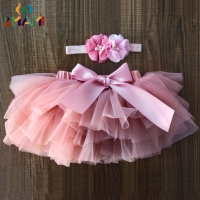 Baby Girls Tulle Bloomers Infant Newborn Tutu Diapers Cover 2pcs Short Skirts+Headband Set tutu skirt girls skirts rainbow skirt