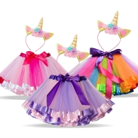 Unicorn Sets Princess Girls Clothes Summer Unicorn Rainbow tutu Skirt for Baby Girl Birthday Party Clothing Size 1 3 5 8 Years