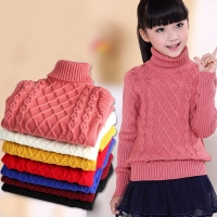 Children's Sweater 2019 Autumn/Winter Kids Knitted turtleneck Pullover Sweater For Boys Girls 3 4 5 6 8 10 12 14 Years DWQ125