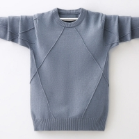 INS hot Boys sweater 4-13 years spring and autumn round neck sweater children's clothing Diamond stitching bottoming shirt