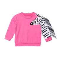 Pudcoco Baby Girl Cloths Infant Cloths Tassels Toddler Kid Baby Girls 3D Zebra Tops T-shirt Sweaters Children Clothes  1-6 Years