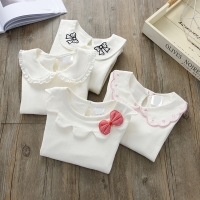 Girls Blouses Cotton Children Tops Autumn School Girl Blouse Kids Spring Clothes Girls Shirt Long Sleeve infant toddlers 73~130