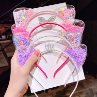 Cute Cat Ears Headband Baby Girls Hairbands Korean Children Princess Kids Hair Accessories Scrunchie Christmas Gift