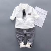 2019 Baby Boy Clothes winter Cartoon Boy Clothing Set Long sleeves Leisure boys t shirt+ Pant 2pcs kids clothes set