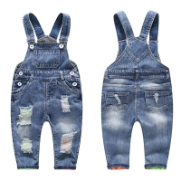 3-8T kid jeans children jeans boys pants denim trousers Korean children jeans overalls bib pants jeans for boys kids boy clothes