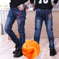 Children Boys Jeans 2019 Spring Kids Denim Pants Boys Casual Pencil Jeans Pants.4Y-15Y Children Letter Straight Trousers