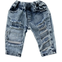 2019 Fashion Newborn Infant Toddler Kids Baby Girls Boy Fashion Holes Jeans Pants Outfits Clothing	1-5T