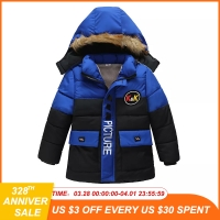 Baby Boys Jacket 2019 Autumn Winter Jacket For Boys Children Jacket Kids Hooded Warm Outerwear Coat For Boy Clothes 2 3 4 5 Year