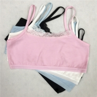 Girl Underwear Cotton Lace Bras Girls Soft Camisoles Sports Bra Top Breathable For Teens Training Bra 8-18Y