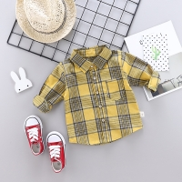 Spring Autumn Kids Plaid Shirt Cotton Long Sleeve Blouses Casual Shirts Children Clothing For 1-4 Years Boy Girl SHIRT Clothes