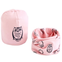 New Spring Autumn Girls hat scarf set Cartoon Owl Star Swan baby boy girls hat Set Children Hat Scarf-Collar Cotton Kids Hat Set