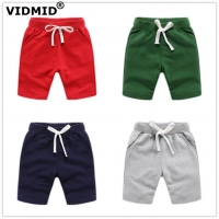 VIDMID Baby boys shorts colorful summer fashion cotton trousers kids boys solid beach shorts children's pants clothing 7060 05