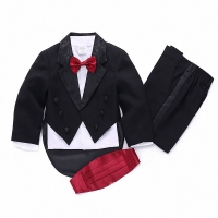 2018 summer Formal Children's clothes for boys white/balck baby boys suit kids blazers boy suit for weddings prom 1T-4T
