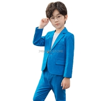 Boys Formal School Suits for Weddings Brand Prince Kids Party Tuxedos Boys Gentlemen Birthday Dress Blazer Pants 2PCS Costume