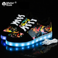 Size 27-41 Children Glowing Sneakers with Light Shoes Luminous Sneakers for Boys Girls Krasovki with Backlight Kid Luminous sole
