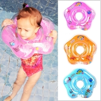 Swimming Baby Pools Accessories Infant Baby Neck Float Tube Ring Safety Baby Inflatable Ring for Bathing Circle Float Ring