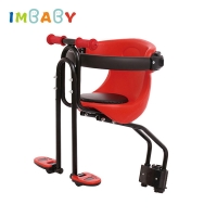 Child Bicycle Safe Baby Seat Infant Carrier Front Place Saddle Cushion with Backrest Foot Pedals Bike Newborn Pew Easy Install