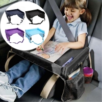 Baby Car Seat Tray Waterproof Portable Travel Tray Activity Desk Storage Tray Seat Stroller Accessories Car Storage Travel Table