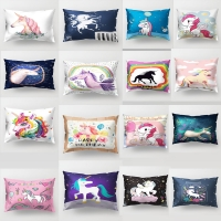 50*30cm HOT sell long pillow covers for sofa Sofa Car Pillow Cover Print  unicorn pillowCase Home Decor horse pillow case PP52