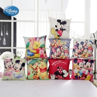 Disney Cartoon SeriesMickey Minnie Princess Decorative/nap Pillow Cases Cover 1Pcs Pillowsham Cushion Cover for Children 45x45cm