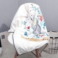 Luxuriously Soft Baby Blanket - Baby Blue - 39