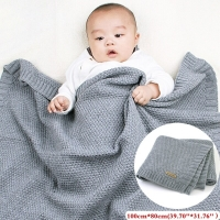 2019 Newborn Baby Blanket & Swaddling Newborn Thermal Soft Fleece Solid Color Knit Windproof Multifunctional  Blanket 14 Color