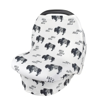 Multifunction Stretchy Baby Car Seat Cover Nursing Cover Breastfeeding Cover Shopping Cart Grocery Trolley Covers Carseat Canopy
