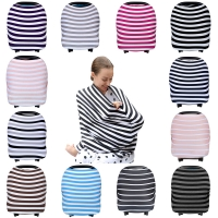 Nursing Breastfeeding Cover Scarf Baby Car Seat Canopy Carseat Covers For Girls & Boys Best Multi-Use Infinity Stretchy Shawl
