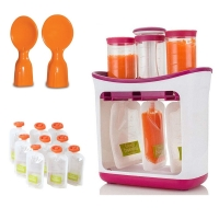 OEM Squeeze Fruit Juice Station and Pouches Feeding Kit Baby Food Storage Containers FAD Free Newborn Food Maker Set Wholesale