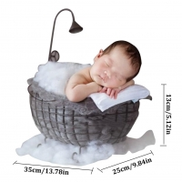 Newborn Photography Props Small Bed Photo Studio Photo Phase Hundred Days Baby Wooden Bed Full Moon Baby Photo Bed Kids Toys
