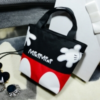 new Disney fashion trend handbags casual small bag mickey mouse portable canvas bag handcuffs bag lunch box bag