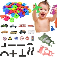 Baby Puzzle Bath Toy EVA Alphanumeric Letter Paste Kindergarten Cognitive Word jigsaw Bathroom Number forEarly Education Kid Toy