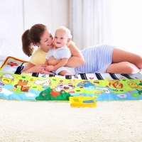 135X58CM Large Size Musical Mat Baby Animal Theme Educational Learning Toy Children Baby Toy  Infantil Playing Type Music Mat