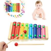 Colorful Children's Musical Instruments Toy Wooden Frame Xylophone Baby Educational Developmental Wooden Toys Gifts GYH