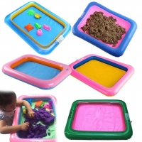 Multi-function Inflatable Sand Tray Inflatable Sandbox For Children Kids Indoor Playing Sand Clay Color Mud Toys Accessories