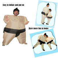 Inflatable Sumo Costume Suits Wrestler Halloween Costume for Adult/Children Fat Man Sumo Party Cosplay BlowupCostume şişme cloth