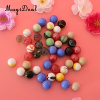 45PCS 16mm Colorful Glass Marbles Kids Marble Run Game Marble Solitaire Toy Accs Vase Filler & Fish Tank Home Decor canicas
