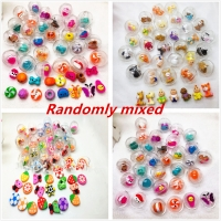 50Pcs/lot 28mm Diameter Transparent Plastic Ball Capsule Toys with inside Rubber or Plastic Figure Dolls for Vending Machine