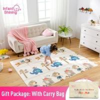 Infant Shining Baby Mat Portable Foldable Baby Climbing Pad 150X200x1CM Baby Play Mat Foam Pad XPE Tasteless Parlor Game Blanket