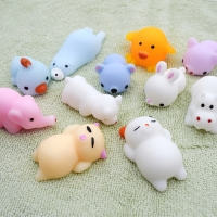 41 models Squeeze toys Mini Change Color Squishy Cute animals Anti-stress Ball Squeeze Soft Sticky Stress Relief Funny Gift Toy