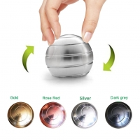 Desktop Decompression Rotating Spherical Gyroscope Kinetic Desk Toy Fidget Toy Optical Illusion Flowing Finger Toy For Adult Kid