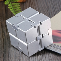 Stress Relief Toy Premium Metal Infinity Cube Portable Decompresses Relax Toys for Children Adults